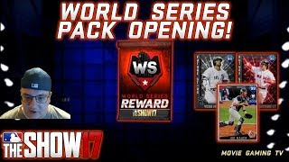 World Series Pack Opening! *NEW* 99 Joe Mauer! *NEW* FUTURE STARS Cards! MLB The Show 17