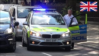 Policeman tells car to MOVE as it BLOCKS a NEW police car responding