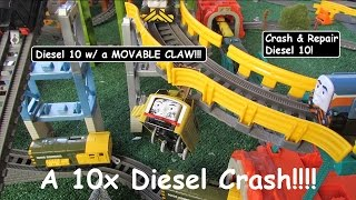 Unboxing Thomas & Friends Toy Train-Trackmaster Crash & Repair Diesel 10!