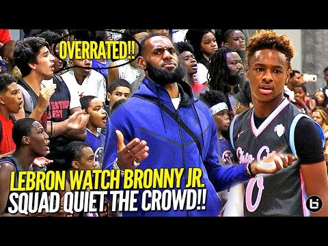 Xxx Mp4 LeBron James Watches Bronny Jr Squad Respond To OVERRATED Chants Northcoast Blue Chips TOO OP 3gp Sex