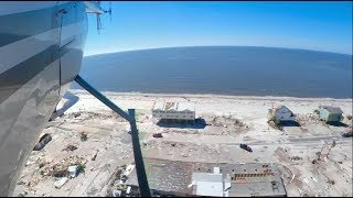 Mexico Beach Florida 360 Hurricane Michael Aerial Damage Footage from Helicopter