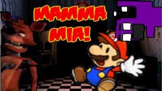 Si Mario estuviera en Freddy Fazbear Pizza