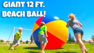 Giant Beach Ball! HUGE Inflatable 12 FT Tall! | Vat19