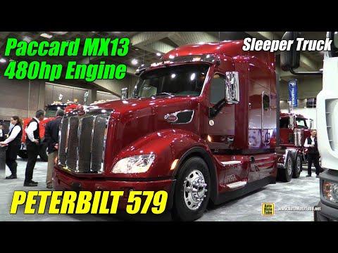 2016 Peterbilt 579 Truck with Paccar MX 13 480hp Engine Exterior Interior Walkaround 2015 Expocam