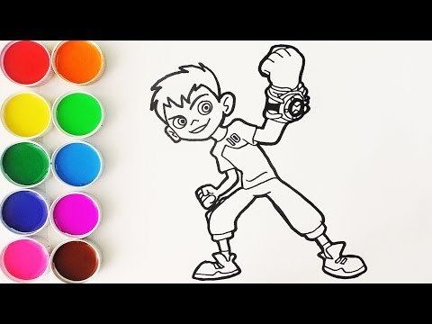 Xxx Mp4 Cómo Dibujar Y Colorear A Ben 10 Dibujos Para Niños Learn Colors FunKeep 3gp Sex