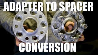 How to Convert Wheel Adapters into Wheel Spacers