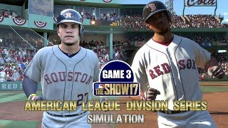 MLB The Show 17   American League Division Series Red Sox vs Astros Game 3 Sim