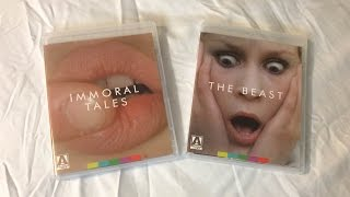 Immoral Tales / The Beast - Arrow Video (1974-1975) Blu Ray Unboxing Review