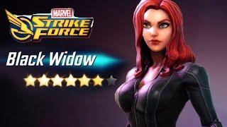 Marvel Strike Force -  6-stars Black Widow! 7 Stars Soon?!