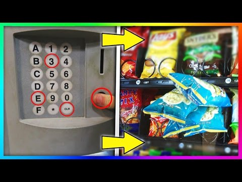 GET FREE STUFF FROM A VENDING MACHINE Life Hacks