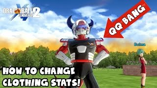 How To Turn Off or Change Clothing Stats! QQ BANG TUTORIAL! | Dragon Ball Xenoverse 2