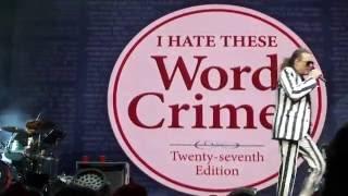 Weird Al Yankovic - Word Crimes HD @ Radio City Music Hall, NYC 2016
