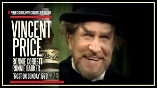 VINCENT PRICE and Ronnie Corbett and Barker on the FROST ON SUNDAY