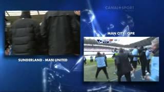 Man City Vs Qpr & man u vs sunderland|| Man u's reaction and aguero's goal||11-12[HD]