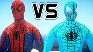 The Amazing Spider-Man vs The Amazing Blue Spiderman
