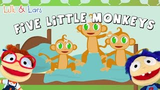 FIVE LITTLE MONKEYS jumping on the bed lyrics - famous children songs english