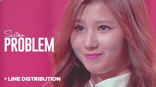 SIXTEEN - Problem : Line Distribution | Collab w/HEXA6ON (Color Coded| Minor B team)
