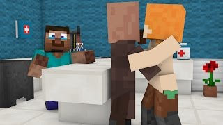 Villager Love story  →  Villager Baby Operation (Minecraft Animation)