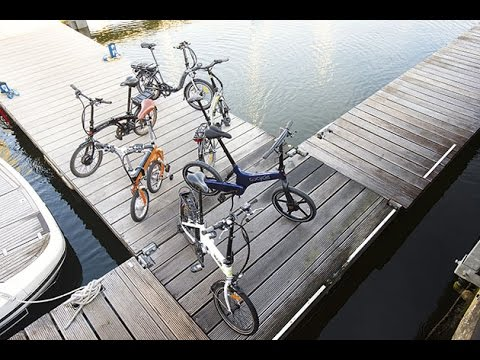 Electric folding bike group test |