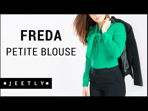 Xxx Mp4 Petite Pussybow Blouse Freda Green Blouse By Jeetly 3gp Sex