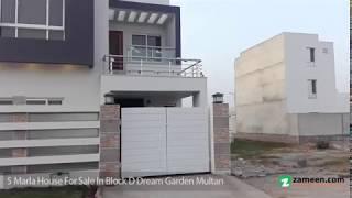 5 MARLA DOUBLE STOREY HOUSE FOR SALE IN BLOCK D DREAM GARDEN  MULTAN