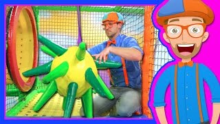 Learn Colors with Blippi at the Indoor Playground   1 Hour