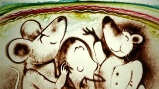 Песочная анимация   Sand animation «Ёжик» «Hedgehog» Official Music Video 360p