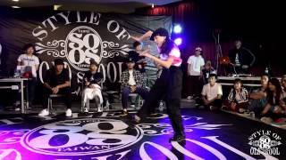 Locking Battle Best8 2 Beigow vs Huuka   20150425  Style Of Old Skool Taiwan Vol.3