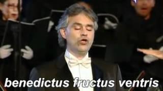 ANDREA BOCELLI AVE MARIA SCHUBERT  Lyrics + traduzione