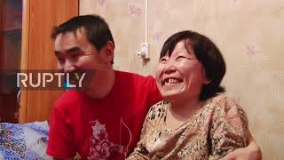 Disabled Russian woman finds happiness with husband and family