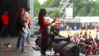 Malina Moye Funks Out 'Black Cat' at Bospop in the Netherlands