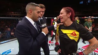 Fight Night Brasilia: Cris Cyborg and Lina Lansberg Octagon Interview
