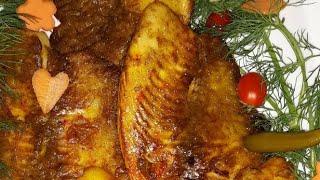 خوش مزه ترين ماهي زعفراني با سس مخصوص توسط پروانه جوادي خواهر جوادجوادي