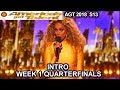 INTRO QUARTERFINALS Week 1 America's Got Talent 2018 Live Shows - AGT Season 13 S13E11
