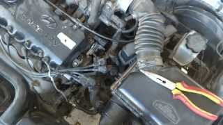 Car heater hose replacement and modification. Coolant leak repair.