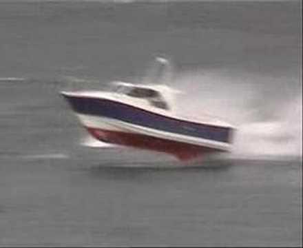 Heavy weather video footage of Interceptors in rough seas