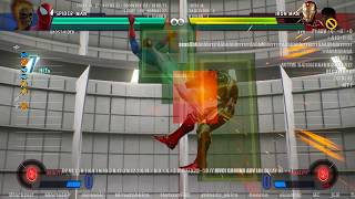 MVCI SPIDER-MAN HIT BOX FRAME DATA LOL AIR COMBO GROUND ADV