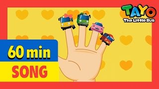 Finger Family and More (60mins) l Nursery Rhymes l Tayo the Little Bus