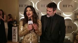 Priyanka Chopra Backstage with JD Morgan at Golden Globes 2017