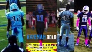 Kwenah Dolo 2015 Highlights - #42/11 Central H.S. Blue Devils