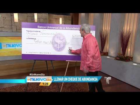 Cómo llenar un cheque de abancia Un Nuevo Día Telemundo