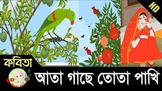 Bangla Rhymes | আতা গাছে তোতা পাখি | Full HD