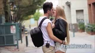 Kissing Prank   Laugh for a Kiss