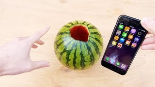 Don't Pour Hot Piranha Acid in Watermelon with iPhone 7!