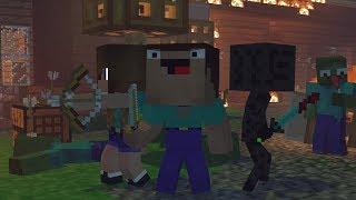 Skyblock War: Part 1 - Minecraft Animation   Noob & Brothes Series