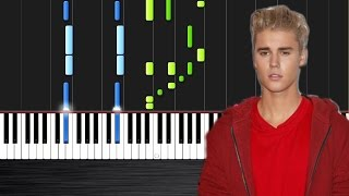 Justin Bieber - Love Yourself - Piano Cover/Tutorial by PlutaX - Synthesia