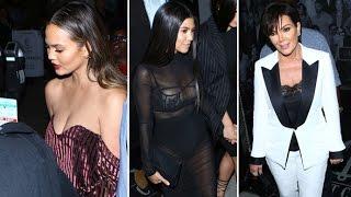 Chrissy Teigen, Kourtney Kardashian, Kris Jenner And More Sex It Up For Dinner At Catch [CENSORED]
