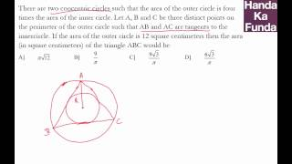 CAT 2015 Exam Online Coaching Preparation Material - Geometry - Handa Ka Funda (C03GE12)