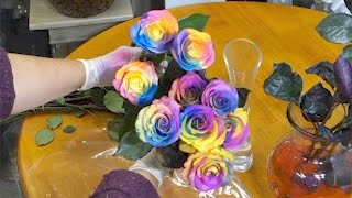 Easy way to make rainbow roses