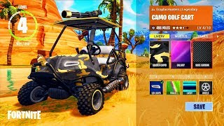 NEW Fortnite Golf Cart CUSTOMIZATION! Vehicle Decorations In Fortnite! (Fortnite Season 5 Golf Cart)